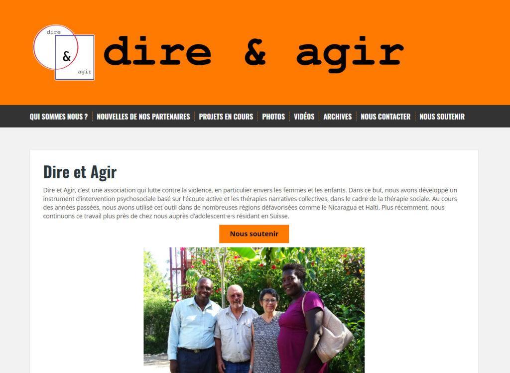 Site de l'association Dire & Agir