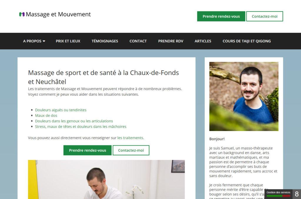 Site de Massage et Mouvement