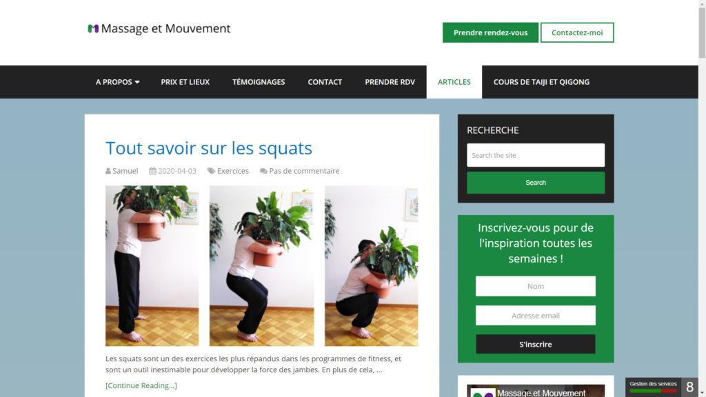 Blog de Massage et Mouvement